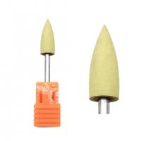 Полир силиконовый конус желтый (Ø 6 мм) (600 грит)