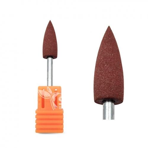 Полир силиконовый конус коричневый (Ø 6 мм) (320 грит)