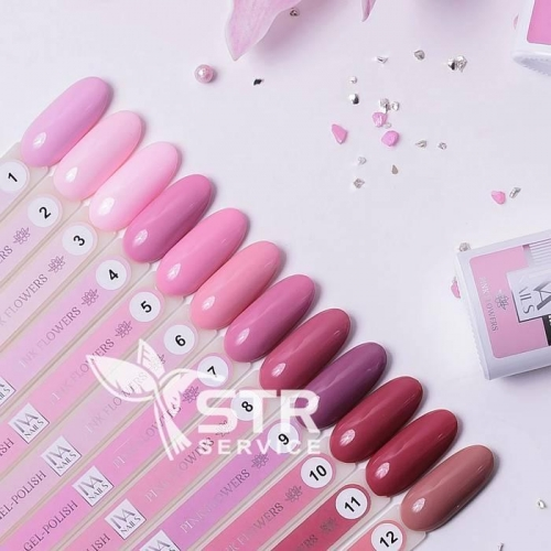 Гель-лак IVA Nails Pink Flowers 10