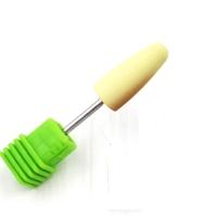 Полир силиконовый конус закругленный желтый (Ø 10 мм) (600 грит)