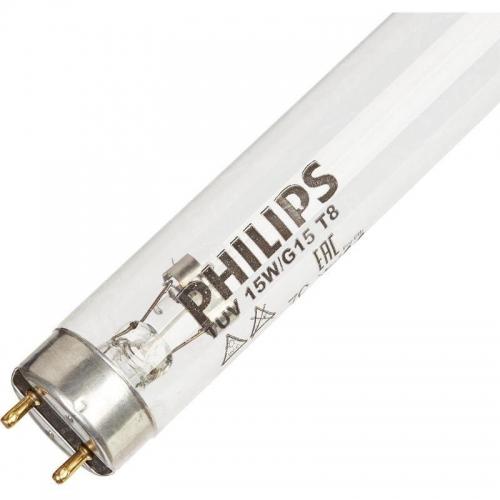 Лампа бактерицидная с УФ-С излучением PHILIPS TUV T8 15W G15