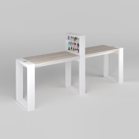 Маникюрный стол Matrix двухместный с подставкой_0