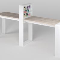 Маникюрный стол Matrix двухместный с подставкой_1