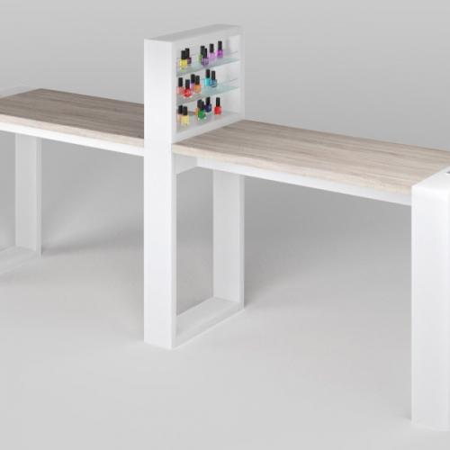 Маникюрный стол Matrix двухместный с подставкой