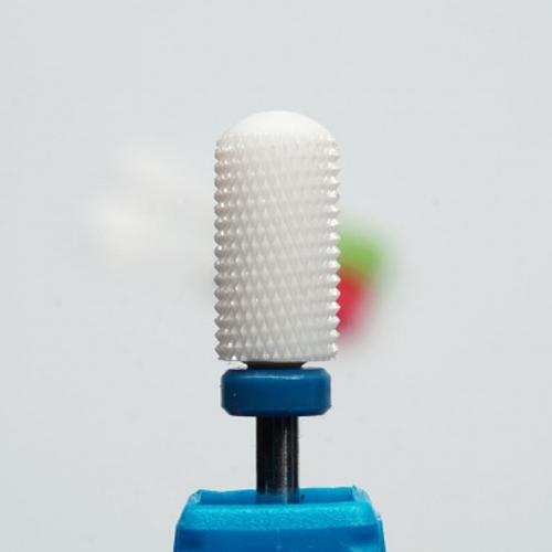 Фреза керамическая (цилиндр с полусферой) синяя